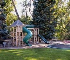 backyard playset and inground trampoline...I'd love to be the dream Grandparents backyard for what our children didn't have.