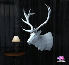 DIY papercraft template - Elk This papercraft template a digital instant download PDF file. You need: a printer, thick paper A4 (160 - 200 g/m2), utility knife or scissors and glue-I use a glue stick Overall size: length-483mm, width-467mm, height-699mm Contains detailed instructions