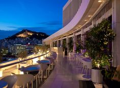 Hilton-view-of-Lycabettus-hill-from-Galaxy-Bar-