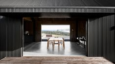 shed with a view, modern homage to the corrugated metal sided farming shed Vernacular Architecture, Australian Architecture, Modern Architecture, Modern Barn House, Modern Shed, Shed Design, House Design, Pole House, Farm Shed