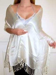 chic moments with an ivory chiffon wrap women love it! http://www.yourselegantly.com/ivory-sheen-chiffon-silk-bridal-evening-wrap-beauty.html