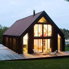 Modern Barn House pole barn house plans   houzz, barn and porch