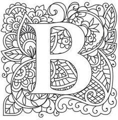Mendhika Letter B Image Coloring LettersColoring SheetsAdult PagesAlphabet