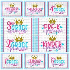 School Princess SVG Bundle Kindergarten First Day of School Kindergarten First Day, Mascot Design, Decorative Borders, Craft Club, Free Svg Cut Files, First Day Of School, Svg Cuts, Design Crafts, Design Bundles