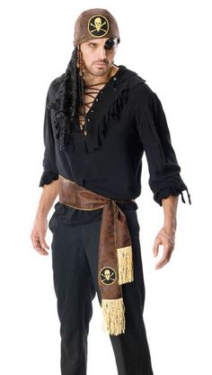 pirate makeup for men   Mens Swashbuckler Pirate Costume - Costumes Wigs Theater Makeup and ...
