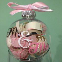 Personalized Plastic Wedding Invitation Keepsake Christmas Ornament, Wedding Gift