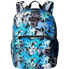 Vera Bradley Lighten Up Grande Backpack (Camofloral) Backpack Bags ($98) ❤ liked on Polyvore featuring bags, backpacks, structured bag, blue bag, knapsack bags, polyester backpack and zipper bag
