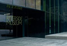 The logo of the Riverside Museum with the dotted typo and bright colors and that's the all key features of the identity. It's not as iconic as the building. What do you think?