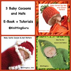4f0306e153b6e 3 Baby Cocoon Sets E-book Tutorials - 3 Pattern Bundle - Holiday Costumes -  Baby Buntings - Carrots