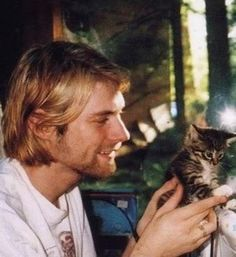 I love photos of Kurt with kittens.