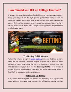 How Should You Bet on College Football? College Football Betting, Second Option, Best Sites, You May, Profile, Games, User Profile, Gaming, Plays