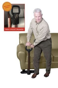 The Couch Cane - Standing up, sitting down, and balancing from a chair or sofa is easy again with the Couch Cane.  It is the solution for users who are unsteady when standing or have back, hip, or knee problems.