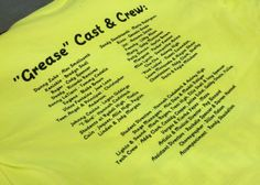 Gibbon High School presents Grease - BACK design - play -  apparel - t-shirt - tee shirt - design - screen print - screenprint - Kearney Nebraska - Shirt Shack