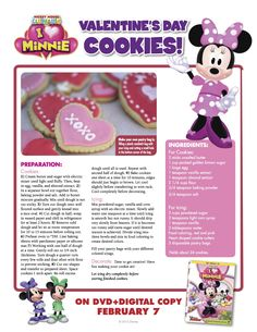 Minnie Mouse Valentine's Day Cookies
