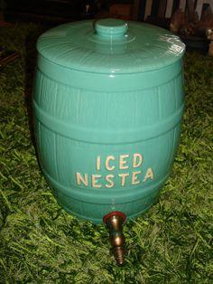 Original Vintage Jadeite Teal Watt Pottery by RelicsAntiques, $109.95