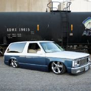 Read about Michael Amborn's custom 1983 Chevy Blazer and matching Chevy truck, both body dropped, and air bagged with two tone paint, at Mini Truckin' Magazine. S10 Truck, Chevy Trucks, S10 Blazer, Chevy S10, Mini Trucks, Lowrider, Custom Trucks, Slammed, View Photos