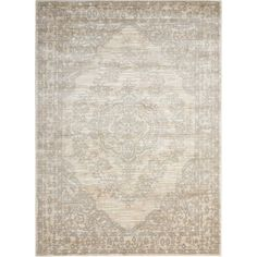 Euphoria Bone (Ivory) 3 ft. 11 in. x 5 ft. 11 in. Area Rug