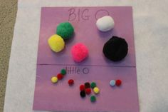 Use leftover pompoms to create academic activities for young children-big and small http://hoybycrafts.blogspot.coms