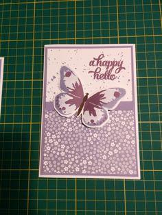Paarse Vlinder met Watercolor Wings - Het Knutsellab - Stampin Up #stampinup #crafts #knutselen #stempelen