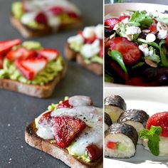Healthy Lunches Made With Strawberries - have to remember this for next year's strawberry season!