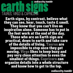 What you need to know about EARTH SIGNS.