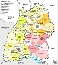 File:Baden-Württemberg, administrative divisions (districts only) - de - colors. Genealogy Forms, Genealogy Chart, Genealogy Research, Family Genealogy, Family Lineage, European Map, All In The Family, Family History, Ancestry