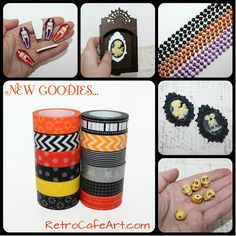 Halloween Washi Tape and more at Retro Café Art Gallery www.RetroCafeArt.com