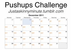 Push up challenge...seems good to start on Jan. 1, 2013...or TODAY!!!