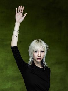 """Bulgari continues with its its philanthropic, global partnership with Save the Children by launching the new campaign entitled #RAISEYOURHAND.  """"We raise our hand to signal our presence, our interest, our attention, our participation. To signal that we do not hide, that we have no fear, that we believe we have an answer.""""  A new sterling silver and black ceramic bracelet, specially created for the campaign, provides a beautiful addition to the Save the Children jewelry collection. Bearing"""