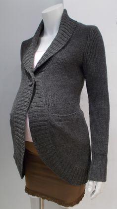 cc37ab5db02 Thyme Maternity grey chunky kint cardigan