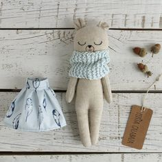 Bunny doll fabric doll made with organic linen organic cotton hemp dress and organic cotton scarf bunnydoll linendoll ecotoy organictoy organicdoll fabricdoll ragdoll Doll Toys, Dolls, Eco Friendly Toys, Fabric Animals, Fabric Toys, Cat Doll, Bear Toy, Teddy Bear, Little Doll