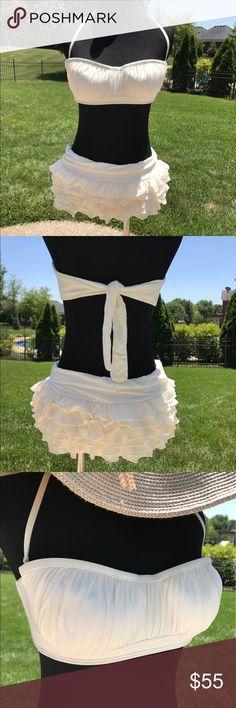 jenny poussin No strings micro bikini. Tiny strapless ...