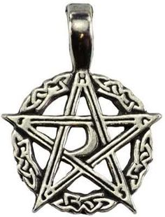 """Wear the Mystic's Waxing Moon to help bring love, money, and positive change into your life. Has cord. Pewter. 1 14"""""""