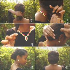 7.) Pin the two twists down to your head using a few bobby pins, and grab the bottom section of hair. 8.) Begin loosely twisting the bottom section of the hair off to the side. The looser the better! 9.) Once you've finished you should have a twist that looks like the above. 10.) Pull that twist up towards the side of one of the flat twists and again pin in place with some bobby pins.