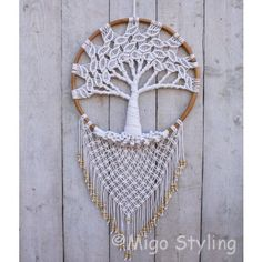 Macrame Projects, Tree Of Life, Dream Catcher, Ties, Wall, Decor, Tie Dye Outfits, Dreamcatchers, Decoration