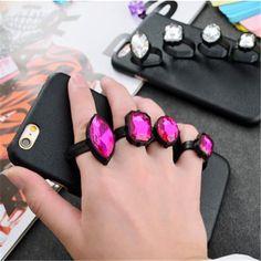 ステラマッカートニー風iPhoneケースStella McCartneyハードケース宝石指輪。 個性的ステラ・マッカートニーPU革貼りハードケースiPhone…