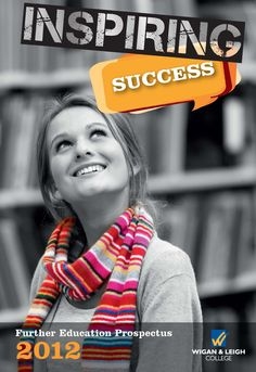 Prospectus front cover designed for Wigan & Leigh College. #design #Heckford