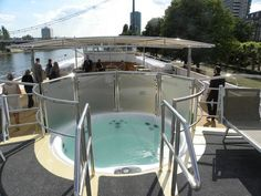 Hot tub on a boat