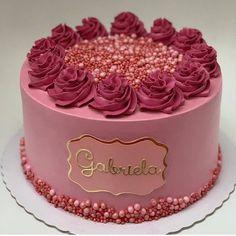 Cake Decorating Frosting, Creative Cake Decorating, Birthday Cake Decorating, Cake Decorating Techniques, Elegant Birthday Cakes, Beautiful Birthday Cakes, Beautiful Cakes, Amazing Cakes, 20 Birthday Cake