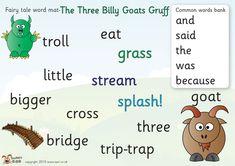 Fairy Tale Activities, Reading Activities, Fun Activities, Traditional Tales, Traditional Stories, Primary Classroom, Preschool Classroom, Fairy Tales Unit, Billy Goats Gruff