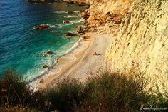 Erimitis beach at sunset Paxos Island, Greece, Sunset, Beach, Water, Places, Outdoor, Aqua, Lugares