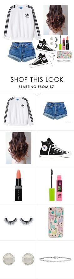 """Totally not procrastinating right now instead of working on my project..."" by gussied-up ❤ liked on Polyvore featuring adidas Originals, Levi's, Converse, Smashbox, Maybelline, Forever 21 and Melissa Odabash"