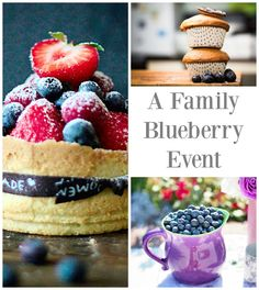 """Feeding baby or feeding the whole family, blueberries make for some summer yum! Songs to sing along with, ideas for blueberry treats for the family, and """"how-to"""" developmental milestone tips to make blueberries an easy transition food for babies and toddlers."""
