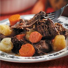 The Best Pot Roast Ever *Interesting... uses ranch and Italian salad dressing packets