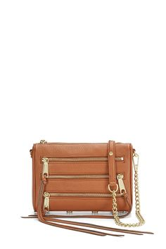 Mini 5 Zip Crossbody  - Unzipping is sexy. Now you get extra practice. This little moto-inspired leather crossbody is perfect for day trips or nights out, fitting just the essentials. Long swishy fringe adds a little drama.     Style #: CSP7ISAX02