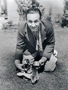Walt Disney with kittens; 1930's.  This is now my favourite photo of Walt.  Kittens?!?!?!  Too cute!