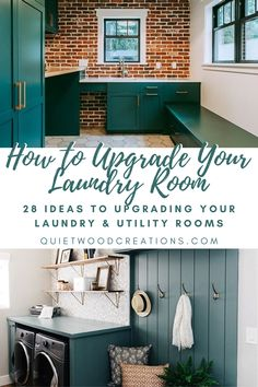 Upgrading your laundry room is not only a fun project, but a great opportunity to declutter, to get creative and to add some personal style to another part of your home. That's why we've put together these decorating ideas to help you upgrade your laundry room #laundryroom #utilityroom #homedecor Laundry Room Remodel, Laundry Rooms, Custom Wooden Signs, Laundry Room Design, Rustic Kitchen, Declutter, Opportunity, Personal Style, Decorating Ideas