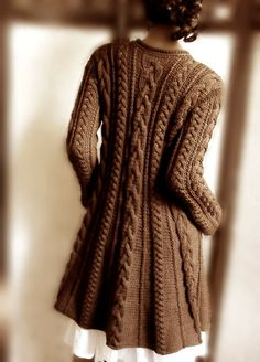 Chocolate Cable Sweater