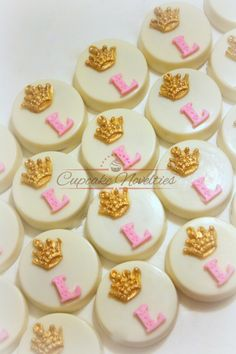 Princess Cookies Princess Birthday Pink and Gold First Birthday Pink and Gold Baby Shower Crown Tiara Cookies Monogram Princess Party Favors by CupcakeNovelties on Etsy https://www.etsy.com/listing/491559132/princess-cookies-princess-birthday-pink