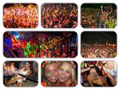 Thailand's full moon party is famous because of its all-night beach party where people come from all over the world. Full Moon Party, Beach Party, All Over The World, Thailand, Destinations, Places To Visit, Night, People, Top
